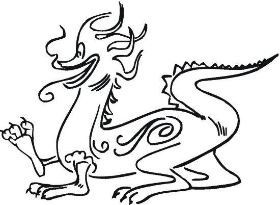 Dragones Feroces Para Colorear: Omalovánky