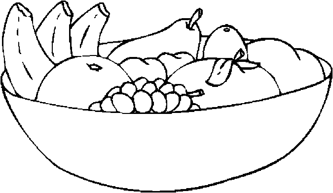 salad bsalad bowl Colouring Pages